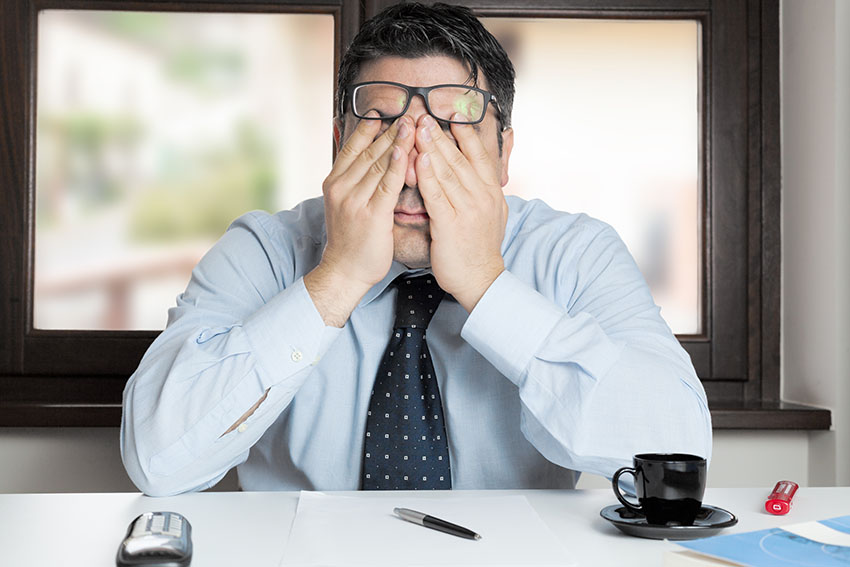 Vermoeidheid tijdens werk